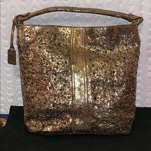 Frye Deborah Studded Hobo Metallic Bag &598